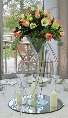 "Centrepiece Ideas    ""martini"" glass"