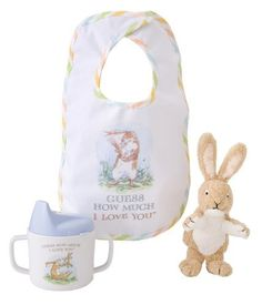 Kids Preferred Guess How Much I Love You Gift Set by Kids Preferred. Save 48 Off!. $11.54. From the Manufacturer                Inspired by the bestselling book Guess How Much I Love You. With over 19 million copies sold, in 34 languages, Nutbrown Hare from the international bestseller Guess How Much I Love. This lovely boxed gift set includes cloth bib, sippy cup, and soft full-bodied finger puppet.                                    Product Description                This lovely boxed g...