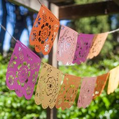 Make this DIY papel picado for Cinco de Mayo, birthday celebrations, brunch or just to brighten up a room in your house.