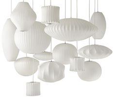 Een klassieker! George Nelson's Bubble Lamps - Roomed. Zo leuk allemaal verschillende lampen boven de eettafel, hou voor de stoelen dan wel eenheid anders ontstaat er teveel onrust. Wil je ook advies voor jouw interieur, ga naar mixinstijl.nl