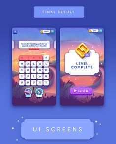 Game Interface, User Interface Design, Game Ui Design, App Design, Word App, Ui Color, Game Gui, Game Assets, Word Games