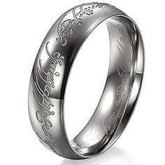 Navifoce Titanium Stainless Steel Fashion Silver Lord Rings Wedding Band Ring (9). Brand new. Material: 316L Stainless-Steel. Feature:Anti-allergic / Never fade / High Polished. Fashion&Fine gift for him. Comes with a Navifoce brand fashionable gift pouch or box to make this gift even more impressive.