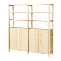 Ivar 2 Sections/shelves/cabinet, Pine