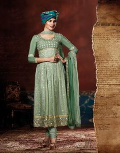 Charming Green Embroidered Viscose Georgette Base Salwar kameez Design No :- 18558 Product :- Unstitched Salwar Kameez Size :- Max 40 Fabric :- Pure Georgette, Pure Crepe Work :- Resham, Jari, Embroidery, Diamond Work Stitching Charges :- र 400 Price :- र 6507  For Sales Queries :- sales@manjaree.in OR call on 0261-3131669  For More Information :- http://manjaree.in/  Follow Our Blog :- http://manjareefashion.blogspot.in/