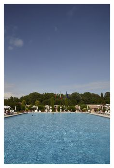 Dive into the lavish #pool at Hotel Villa Cipriani in Asolo, #Venice.