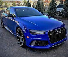 Audi RS7 #audi #rs #rs7 #blue #rings #dream