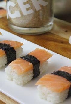 Nigiri -Sushi -  ganz einfach selber machen- ohne Zucker