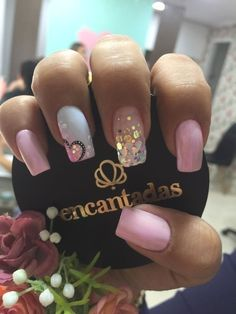 Easy Valentines Day Nail Designs for Short Nails : pink sparkle valentines nails gel nails valentines day gel nails valentines day Valentine's Day Nail Designs, Short Nail Designs, Nail Polish Designs, Nails Design, Diy Valentine's Nails, Pink Nails, Pink Sparkle Nails, Stylish Nails, Trendy Nails