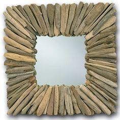 Beachhead Square Driftwood Mirror