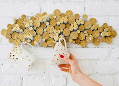 Wow! Good project idea for a modern kitchen. Attach cross-sections of a wooden dowel for a DIY cup rack