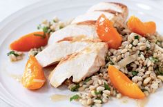 Spring Apricot Chicken with Barley Salad (Low-GI Recipe)