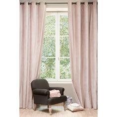 Cortina de terciopelo rosa viejo 140 x 300 cm