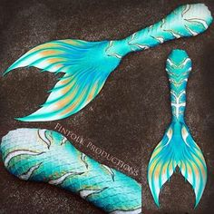Full silicone tail by Finfolk Productions. Design inspired by Avatar.