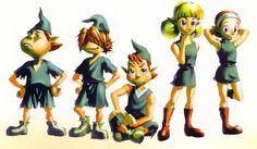 Les Kokiris sont d'éternels enfants vêtus de vert et vivant dans la forêt. Ils sont tous accompagnés d'une fée que leur a offert leur père spirituel : le vénérable arbre Mojo. Exemple : Saria ou Mido