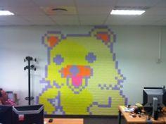 Bear Post-it note art