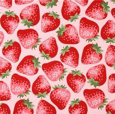 pink big strawberry fabric from Kokka Japan - Food Fabric - Fabric - kawaii shop modeS4u