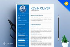 One Page Modern Resume Template Resume Tips, Resume Cv, Resume Writing, Resume Examples, Modern Resume Template, Cv Template, Resume Templates, Design Templates, Business Brochure