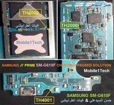 Samsung Galaxy Prime Charging Paused Solution Jumpers When you plugin charger of Samsung Galaxy Prime see notification charging paused Iphone Repair, Mobile Phone Repair, Samsung J7 Prime, All Mobile Phones, Samsung Mobile, Mobiles, Samsung Galaxy, Circuits, Technology