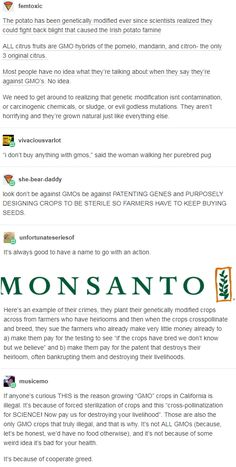 "THIS is the reason growing ""GMO"" crops in California is illegal. It's because of forced sterilization of crops from shit companies like Monsanto The More You Know, Good To Know, Things To Know, Things To Think About, Science, Pro Choice, Tecno, Faith In Humanity, Social Justice"