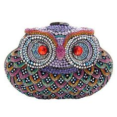 Beaded Owl Purse