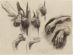 John Singer Sargent Sketch for the Sorrowful Mysteries, the Crowning with Thorns – Hands – Boston Public Library Murals, c. Charcoal on paper. x 63 cm Museum of Fine Arts, Boston Drawing Hands, Life Drawing, Drawing Sketches, Painting & Drawing, John Singer Sargent, Sargent Art, Drawing Studies, Anatomy Drawing, Human Anatomy