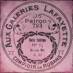 Vintage French Ribbon Packaging from Paris