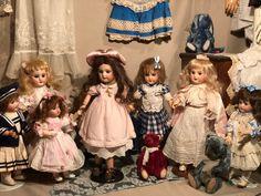 Early Bleuette fleischmann Dress and Extras. Old Dolls, Antique Dolls, Les Enfants Sages, Petite France, Dollhouse Dolls, French Antiques, Paris France, Doll Clothes, Size 2