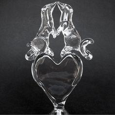 Ferret Heart Hand Blown Glass Wedding Cake Top от ProchaskaGallery