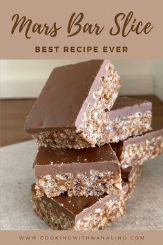 Bar Mars, Mars Bar Cake, Mars Bar Slice, Chocolate Lollies, Chocolate Slice, Best Chocolate, Chocolate Recipes, Apple Sour Cream Slice, No Bake Slices
