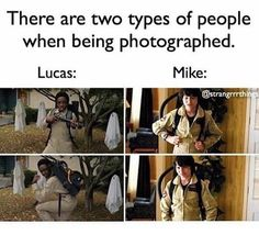 I'm Mike with family and Lucas with friends and cousins