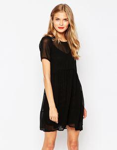 Oh My Love Chiffon Smock Dress
