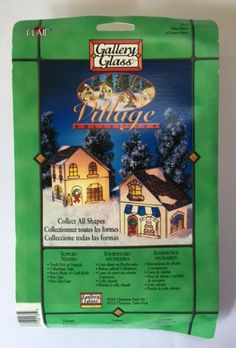 New Plaid Gallery Glass Village Stained Plexiglass Craft Kit Christmas House Manor 19213