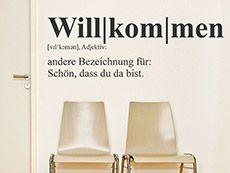 Das Wandtattoo Definition Willkommen hier bestellen. ✓ Große Auswahl   Top Qualität   schnelle Lieferung   kostenloser Versand (D) bei Wandtattoos.de.
