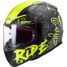 Κράνος #LS2 FF353 Rapid Naughty Matt Black-H-V Yellow Ls2 Helmets, Motorcycle Helmets, Black Neon, Neon Yellow, Helmet Design, Products, Helmet, Motorbikes, Laser Cutting