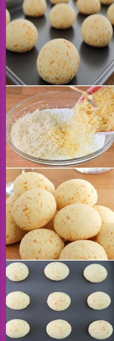 PAN de Yuca o PAN de queso - Recipes, tips and everything related to cooking for any level of chef. Colombian Food, Salty Foods, Pan Dulce, Pan Bread, Empanadas, Sin Gluten, Mexican Food Recipes, Love Food, Bakery