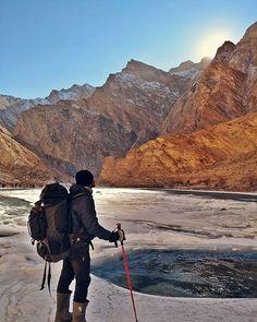 Instagram Photo Contest January 2018 #picoftheday (31st Jan) is by @imrinmoy_ ・・・ Some sunlight is all I asked for !! . . #Chadartrek #zanskar #chadar #ladakh #trekkinginindia #Hiking #frozenriver #throwbackthursday #photoftheday #winters #challenges #minus20degrees