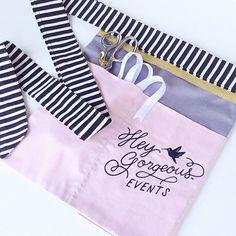 custom apron : vendor aprons, custom embroidery, craft show apron, event planner logo, wedding apron, florist apron