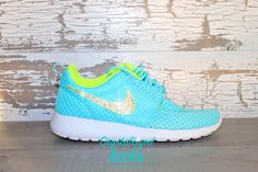 NEW Nike Roshe Run Blue/neon made with by CrystallizedKicks