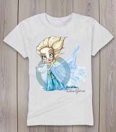 camiseta Elsa Frozen manudejavea.com