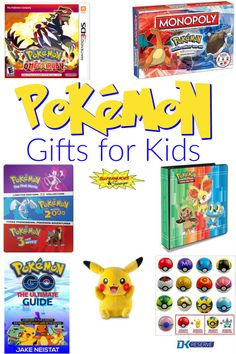Does your child love Pokemon? Then check out these fun Pokemon gifts for kids. Some are perfect gifts for Pokemon fans of all ages. Toddler Christmas Gifts, Christmas Gift Baskets, Pokemon Easter Basket, Toddler Toys, Kids Toys, Craft Gifts, Diy Gifts, Pokemon Gifts, Fun Activities For Kids