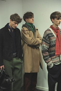 Bottega Veneta AW15 menswear Milan pattered cardigan