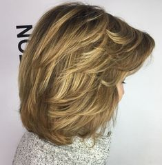 80 Best Modern Hairstyles and Haircuts for Women Over 50 - Medium Thick Feathered Cut - - https:// Medium Layered Haircuts, Medium Hair Cuts, Short Hair Cuts, Medium Hair Styles, Short Hair Styles, Medium Haircuts For Women, Short Hairstyles For Thick Hair, Haircut For Thick Hair, Short Hair With Layers