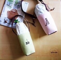 Handmade Bottle Covers by Little White Cottage. You may get yours by PM the Facebook of Little White Cottage.