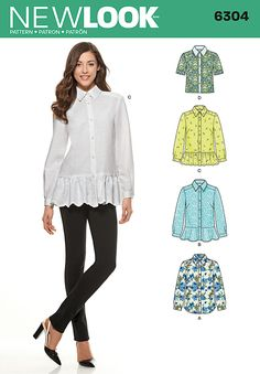 New Look Misses' Shirt with Length Variations 6304