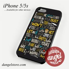 Artic Monkeys Lyrics Phone case for iPhone 4/4s/5/5c/5s/6/6 plus