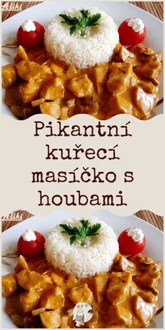 Pikantní kuřecí masíčko s houbami Food And Drink, Pizza, Fish, Meat, Chicken, Recipes, Top Recipes, Thermomix