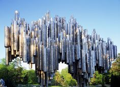 Sibelius Monument in Helsinki. One of Helsinki's landmarks, the monument to honour national composer Jean Sibelius (1865-1957).  I have seen the monument from afar but was not able to get pictures and see it up close.