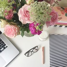 Beautiful blooms and copious amounts of tea is the plan for today as I put the finishing touches to a client website! Happy Friday all x