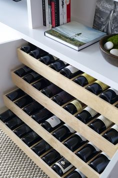 No link. But this is fabulous. Wine is great to display but sometimes it's nice to tuck away. Especially if you're running low then it never looks empty.