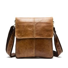 (37.08$)  Know more - http://ai0se.worlditems.win/all/product.php?id=32515495073 - 2017 New Brand Fashion Genuine Leather Men Travel Bag Leisure Laptop Solid Men Shoulder Bag Business Men Messenger Bags A1586